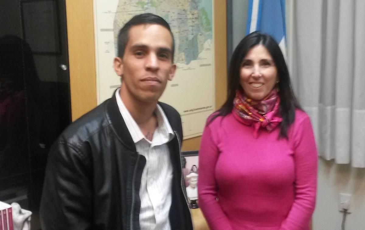 Yuniel López visitó Buenos Aires invitado por CADAL