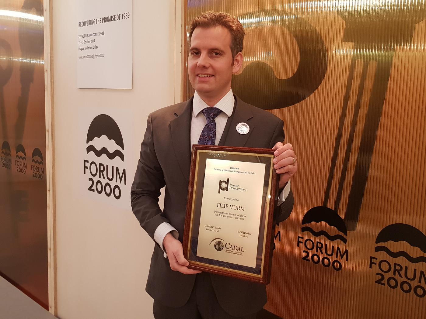 Entrega de Premio en Praga