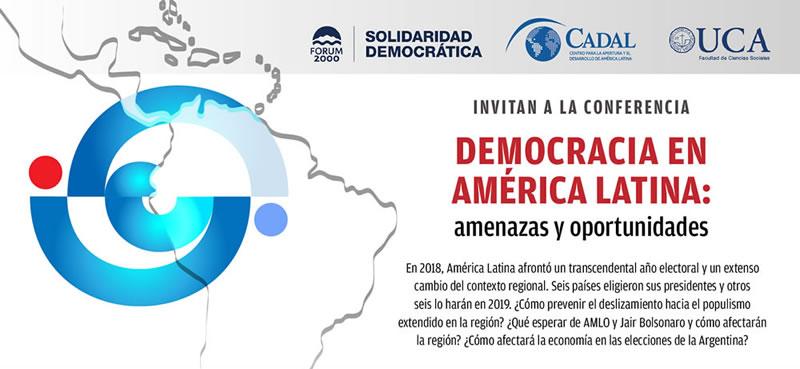 Líderes políticos de América Latina y los jóvenes discutirán el estado de la democracia en América Latina