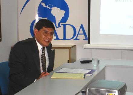 Alejandro Mercado durante la presentación