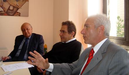 José Antonio Viera Gallo, Ricardo Brodsky y Néstor Scibona.