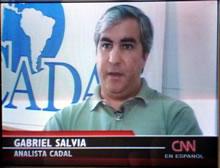 Gabriel Salvia durante el reportaje a la CNN