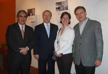 Gabriel Salvia, Peter Weiss, Annika Rigö, y Frank Priess