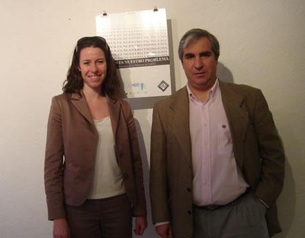 Gabriel Salvia, Presidente de CADAL, junto a Kerstin Von Bremen, integrante de la Fundación Konrad Adenauer en México