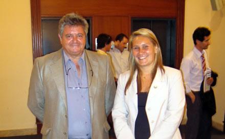 Ricardo Reilly y Soledad Murgan, Asistente en la Oficina de Uruguay del Área Derechos Humanos de CADAL.