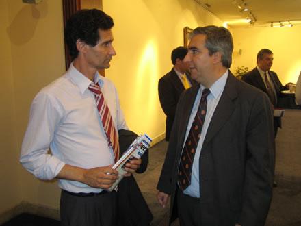 El Representante Nacional Gustavo Espinosa y Gabriel Salvia, Presidente de CADAL.