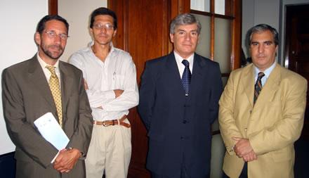 Christoph Korneli, Fernando Ruiz, Carlos Silva y Gabriel Salvia.