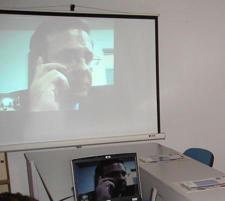 Juan J. López durante la video-conferencia