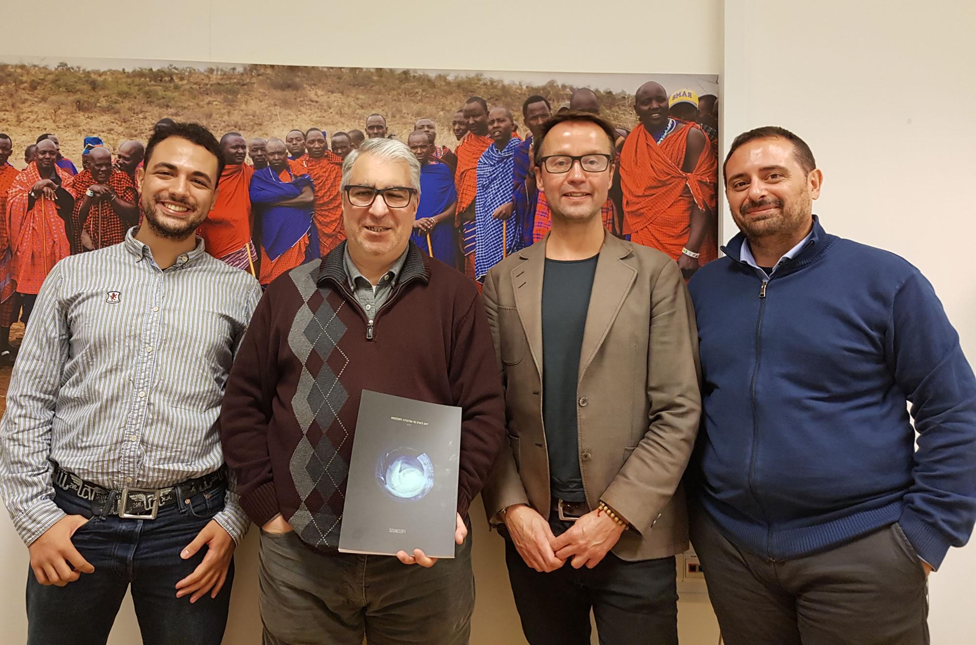 Gabriel Salvia en encuentro con colegas de Freemuse