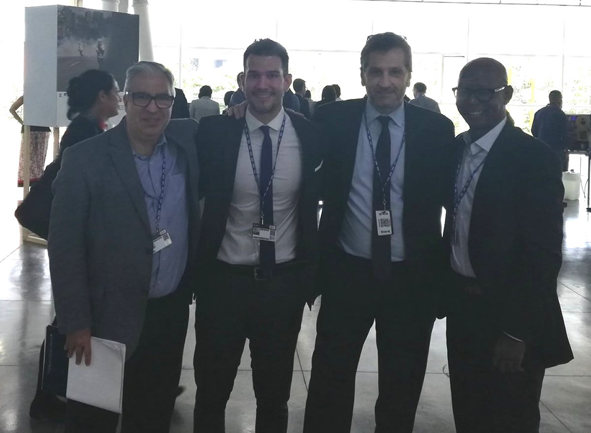 El Director General de CADAL, Gabriel Salvia; Jesús Delgado, de la ONG Transparencia Electoral; el analista Héctor Schamis; y el activista político cubano Manuel Cuesta Morúa.