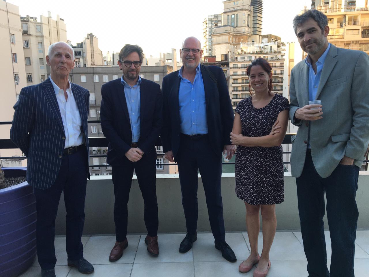 Jaime Malamud Goti, Consejero Académico; Raúl Ferro, Brian Schapira, Cecilia Noce e Ignacio Labaqui.