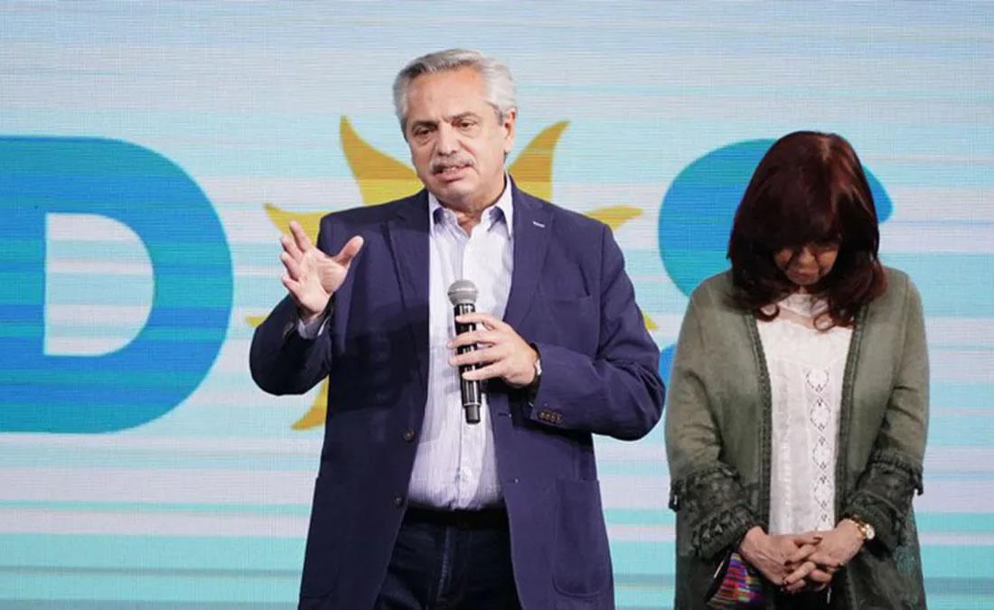 Alberto Fernández y Cristina Kirchner - PASO 2021