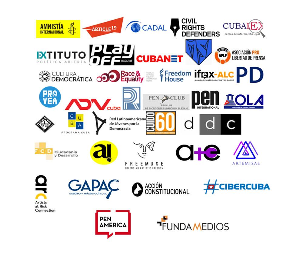 Organizaciones y medios independientes llaman al Gobierno de Cuba a respetar el derecho de manifestación y libertad de expresión y a detener la violencia contra manifestantes