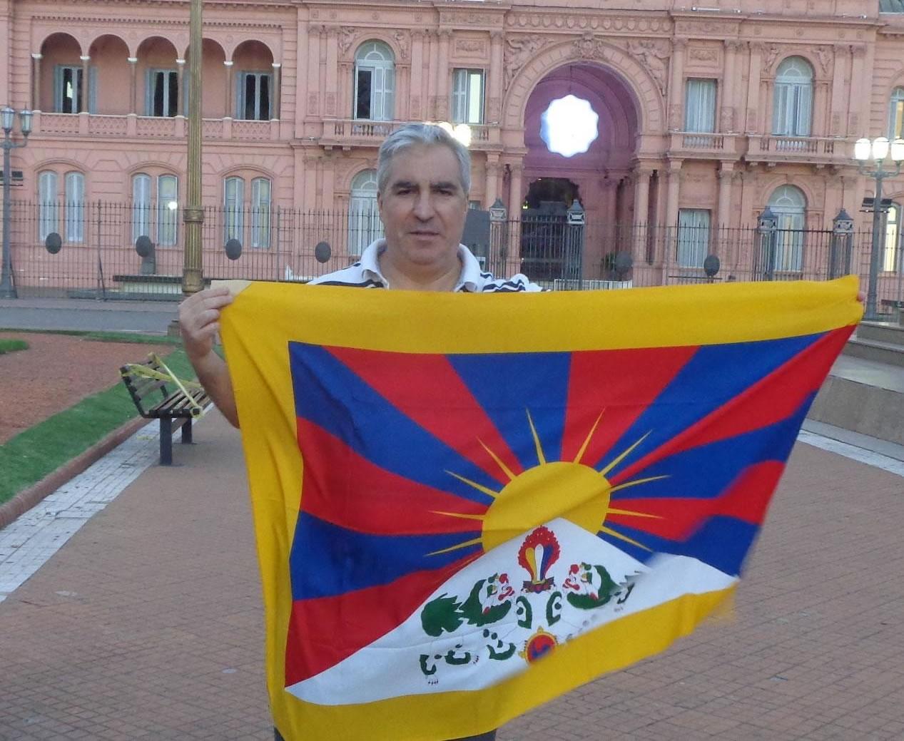 Una bandera por el Tíbet