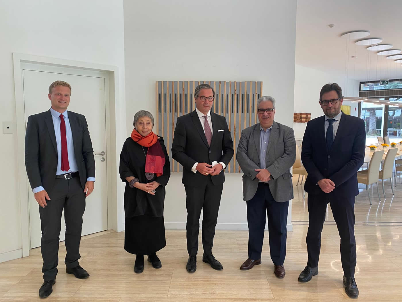 Philipp Herzog, Norma Morandini, S.E. Ulrich Sante, Gabriel Salvia y Brian Schapira.