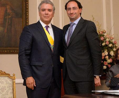 Presidente de Colombia, Iván Duque y el minstro de Hacienda José Manuel Restrepo