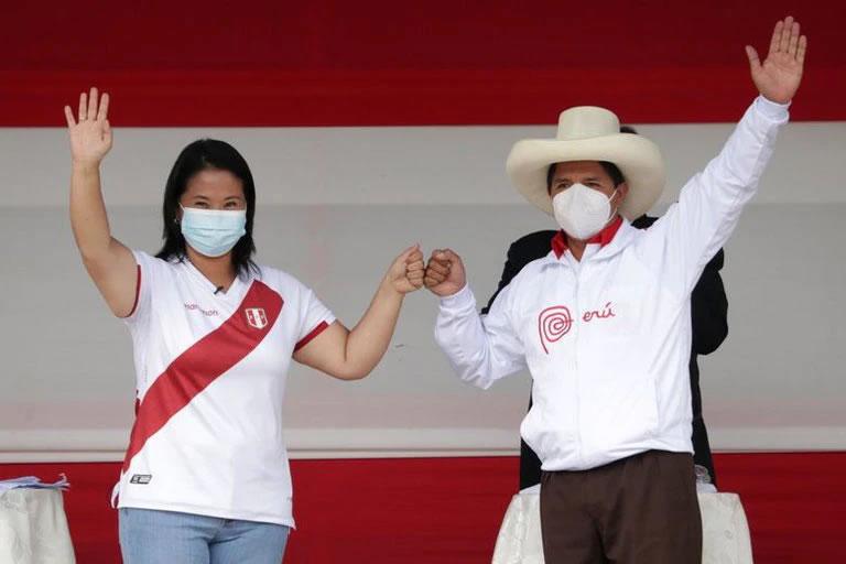 Los candidatos a la presidencia de Perú, Keiko Fujimori y Pedro Castillo