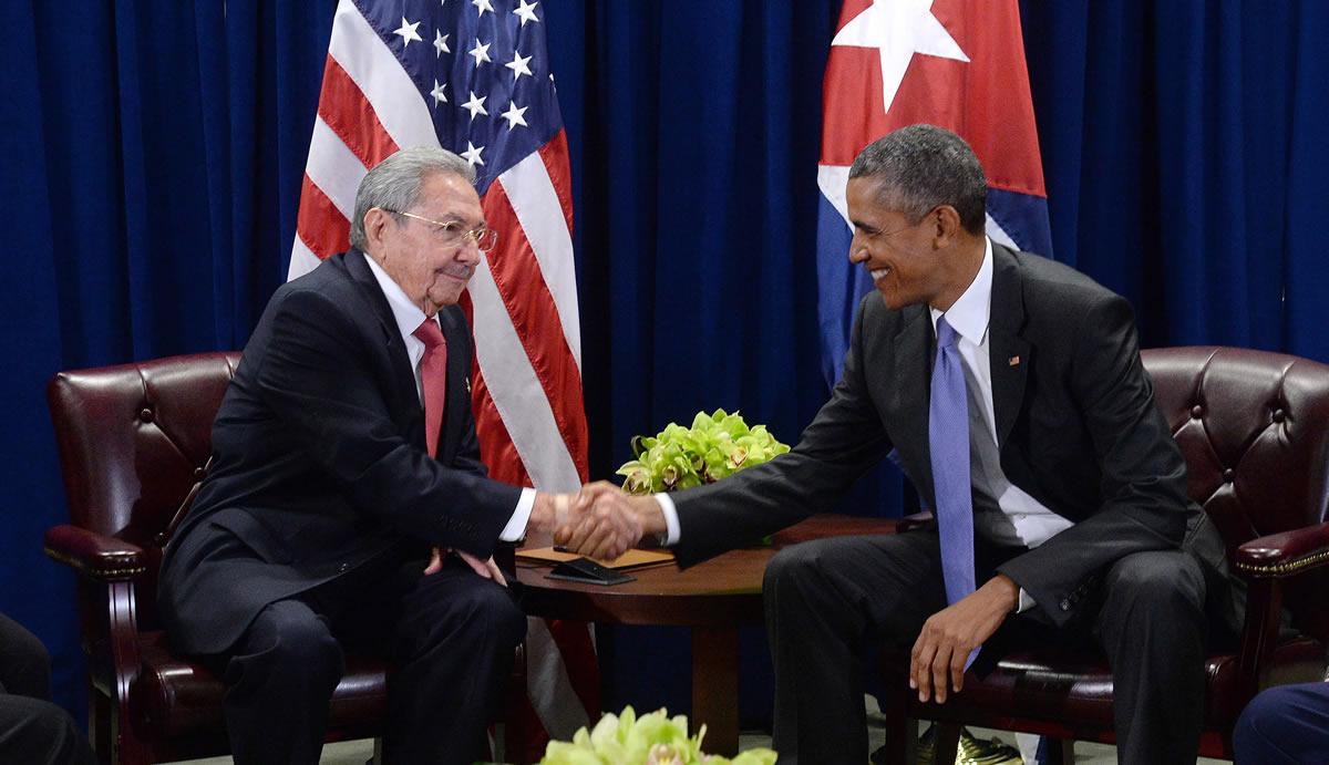 Raúl Castro - Barack Obama