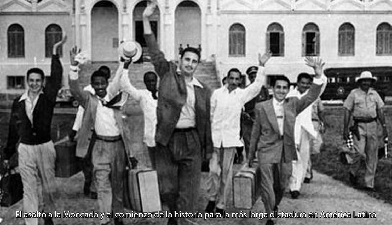 Fidel Castro y sus 28 cómplices liberados un año y medio después del ataque a los cuarteles Moncada y Carlos Manuel de Céspedes