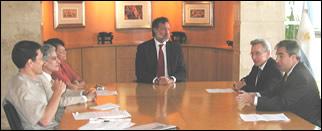 Fernando Ruiz, Juan José Sebrelli, María Sáenz Quesada, Rafael Bielsa, Marcos Aguinis y el Director General de CADAL, Gabriel Salvia.