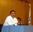 Nelson Fernández durante su exposición