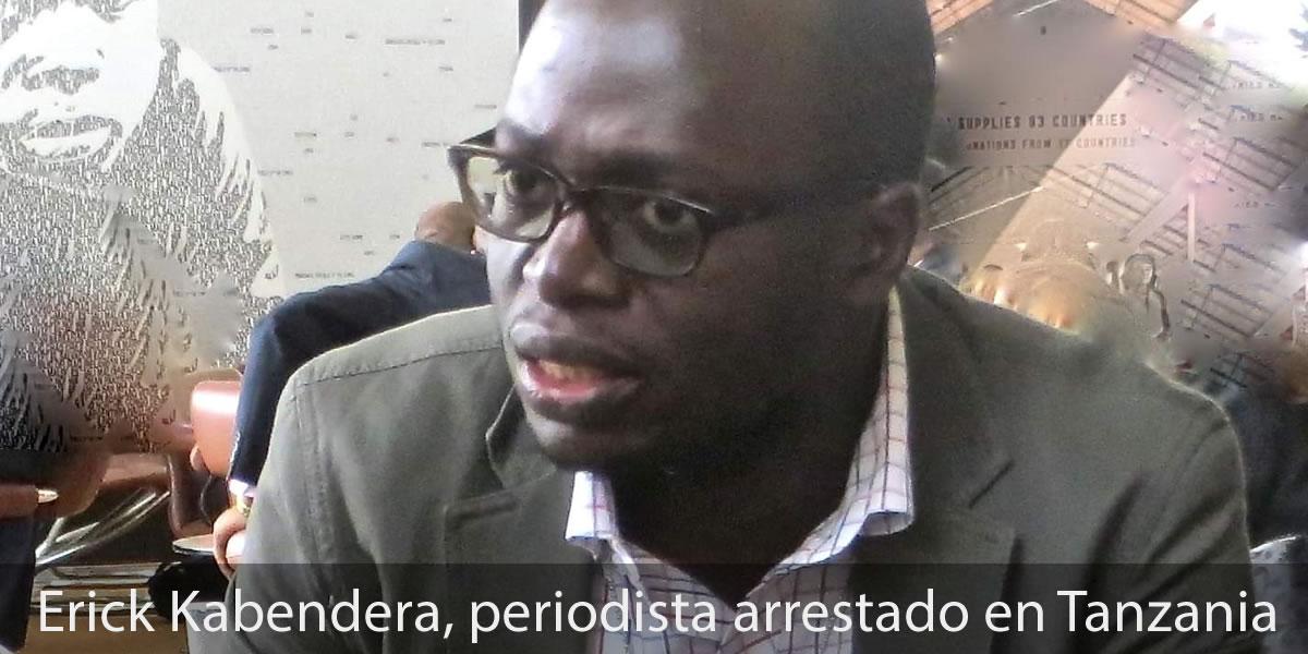 Erick Kabendera, periodista freelance, fue arrestado en Tanzania