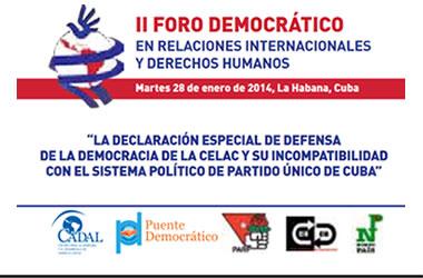 Foro Alternativo a la Cumbre de la CELAC en La Habana