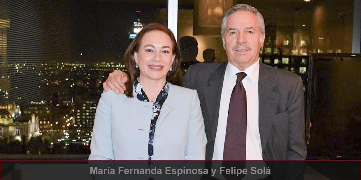 María Fernanda Espinosa y Felipe Solá