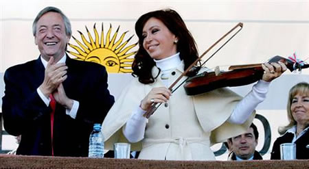 First Fiddle: Cristina Kirchner hopes to succeed her husband Nestor