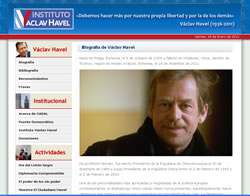 Sitio web del Instituto Václav Havel.