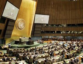 El Salón del Consejo de Derechos Humanos de la ONU. (Stan Honda/AFP/Getty Images)