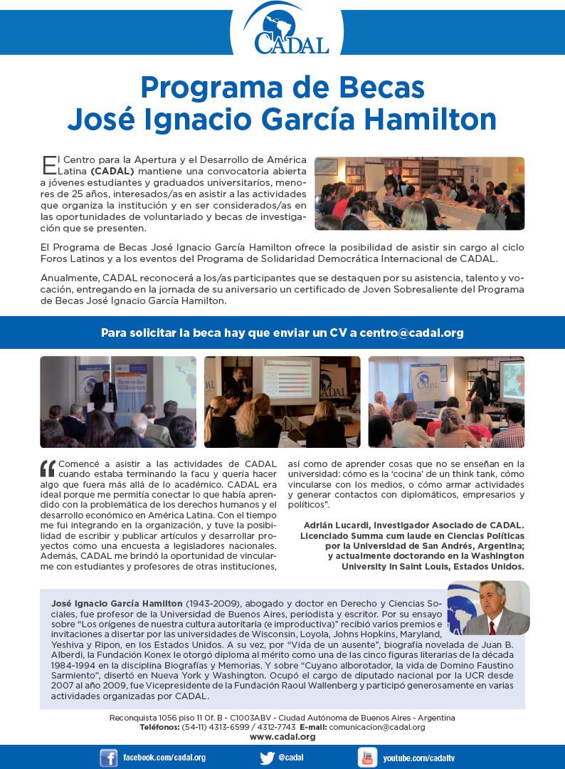 Programa de Becas José Ignacio García Hamilton
