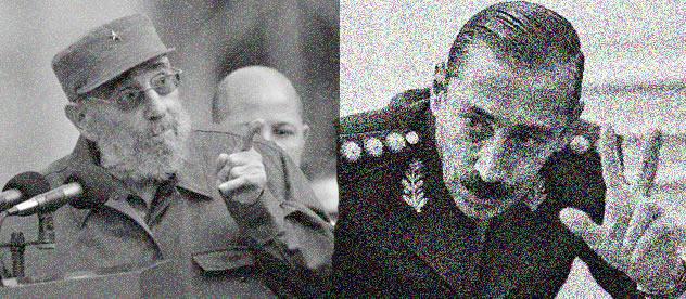 Fidel Castro y Jorge Rafael Videla
