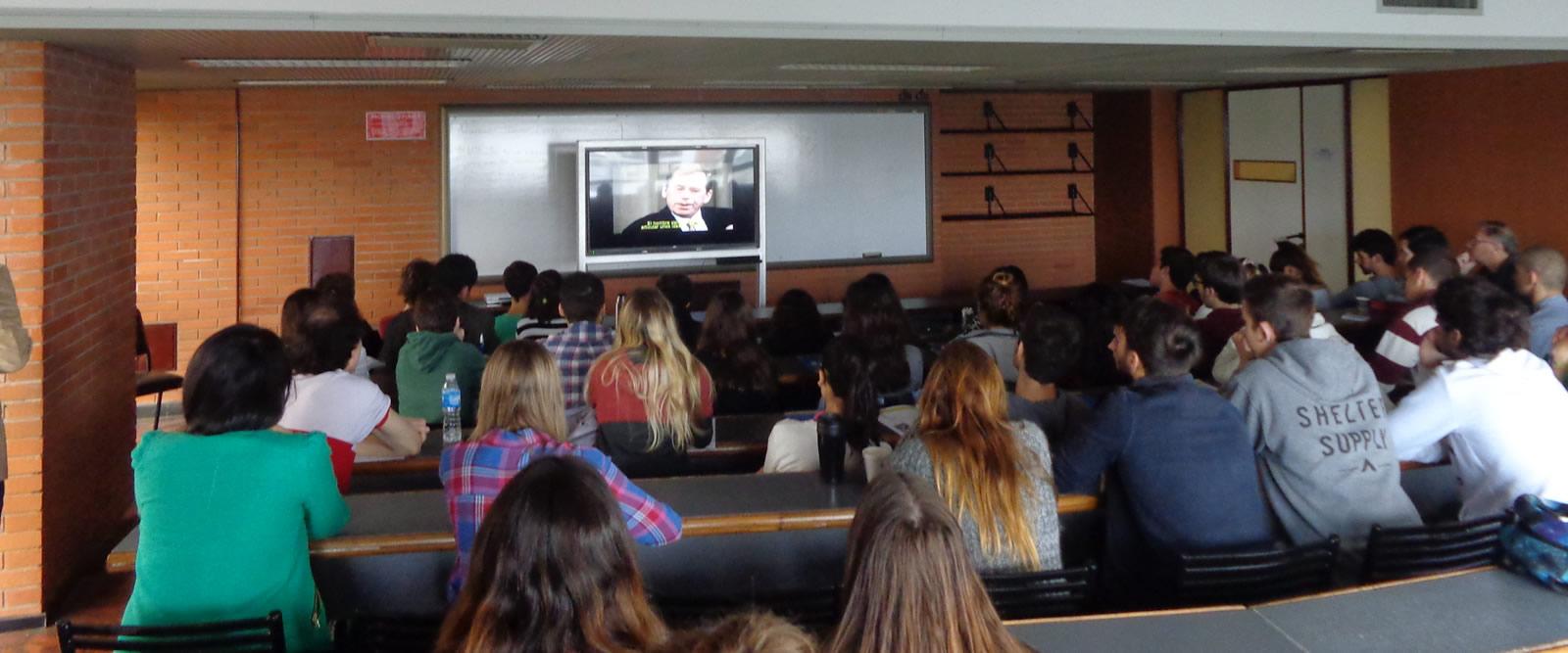 Se proyectó documental sobre Havel en la Universidad de Belgrano