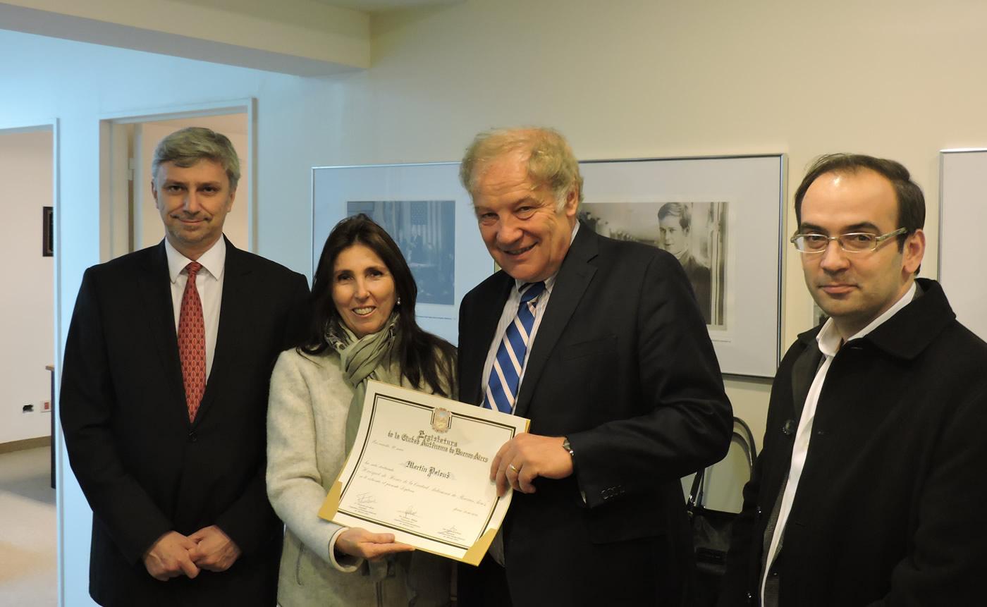 S.E. Petr Kopriva, embajador de la República Checa en la Argentina; Martin Palouš; y los legisladores de la Ciudad Autónoma de Buenos Aires Cecilia de la Torre y Francisco Quintana.