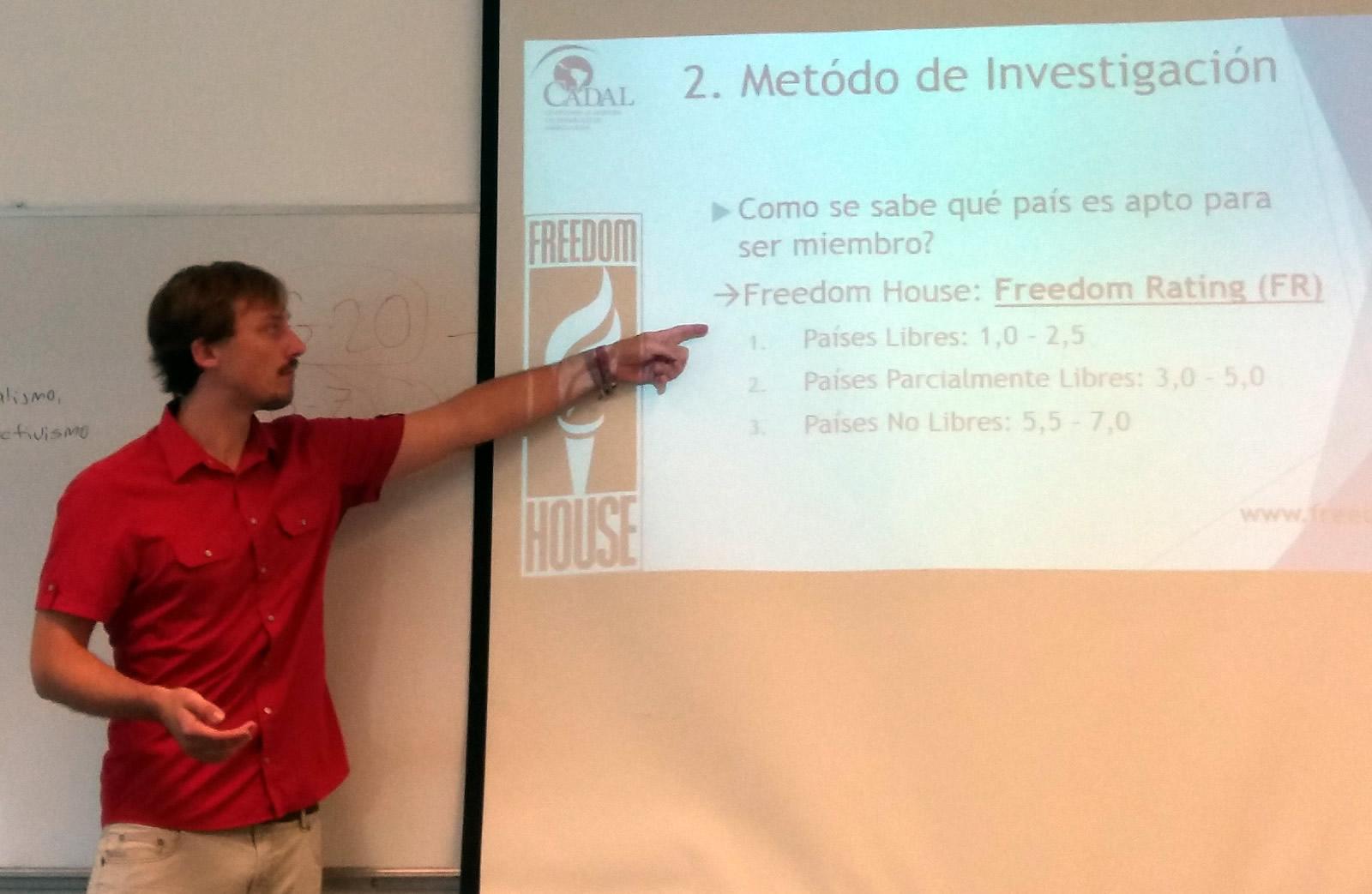Matthias Peschke es estudiante de Ciencia Política en la Universidad de Bremen en la UCEMA.