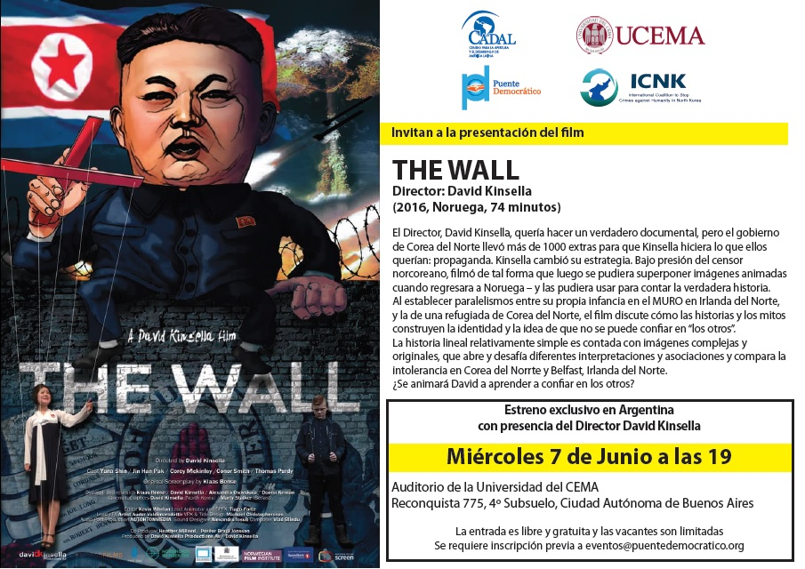 Estreno exclusivo de The Wall, de David Kinsella en la Universidad del CEMA
