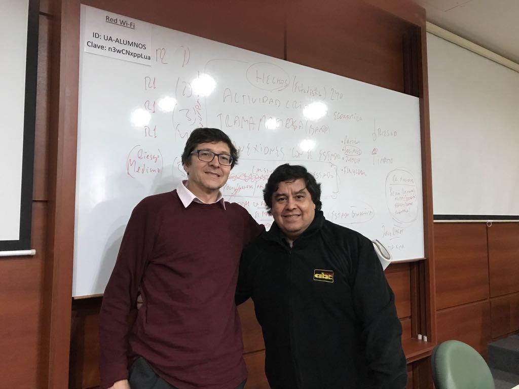 Fernando Ruiz y Cándido Figueredo en Buenos Aires
