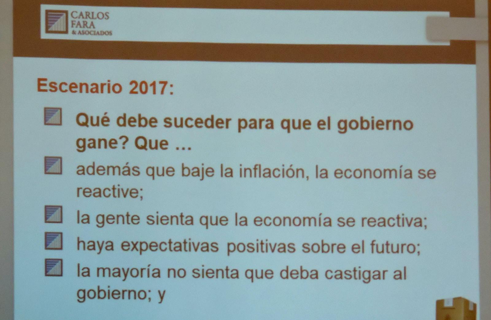 El escenario electoral Argentina 2017