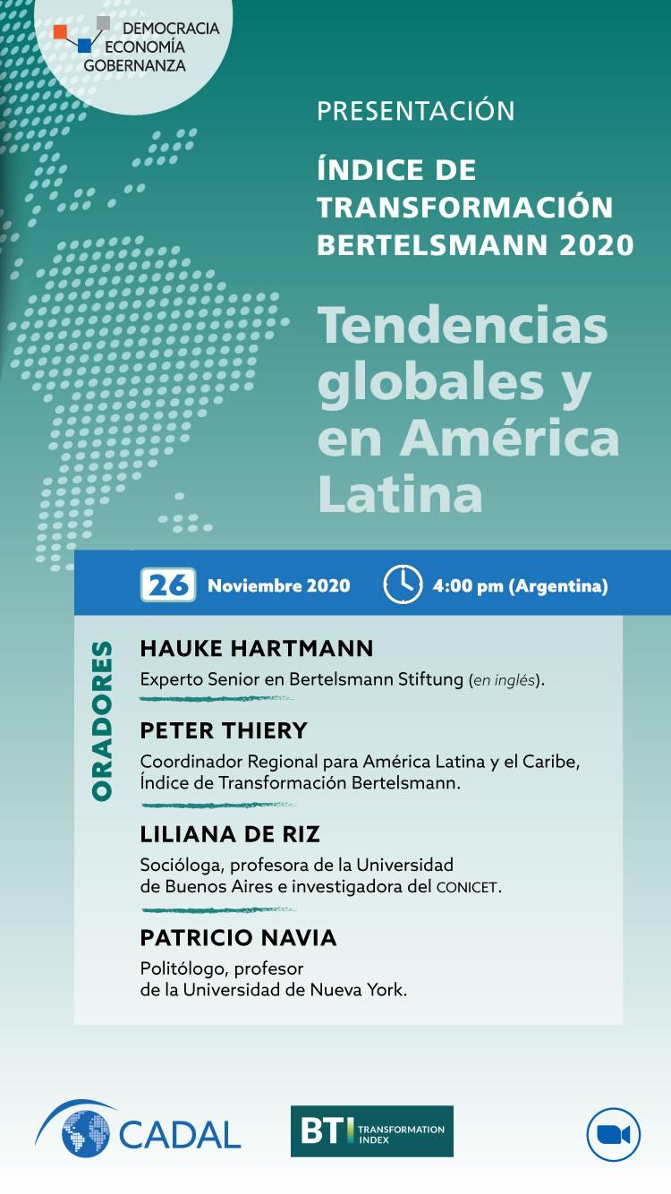 Presentación del Indice de Transformación Bertelsmann 2020