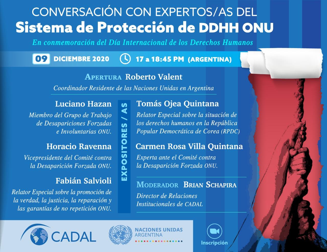 Conversación con los expertos del Sistema de Protección de Derechos Humanos de ONU