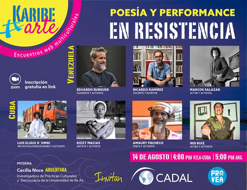 Poesía y performance en resistencia