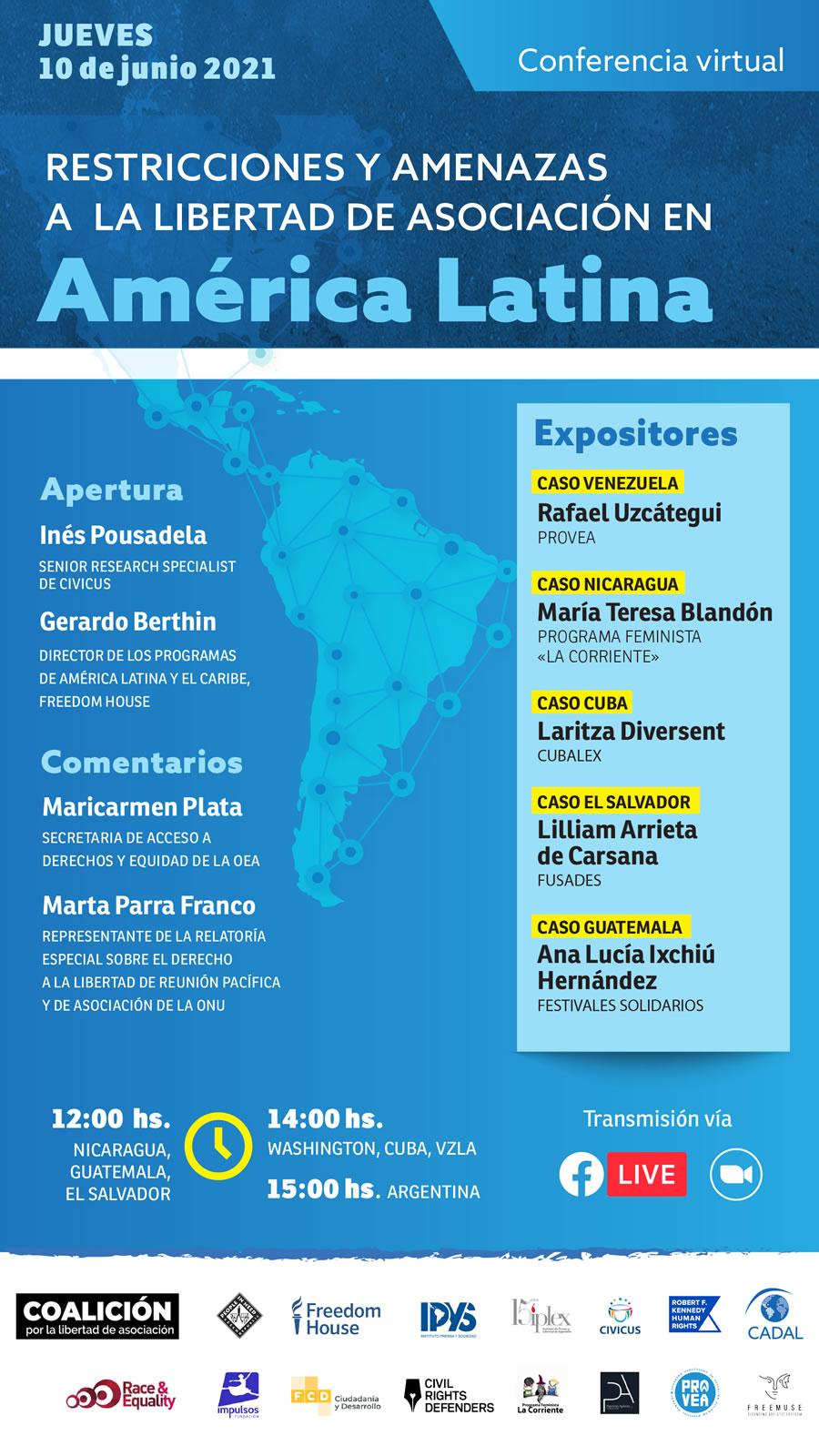 Restricciones y amenazas a la libertad de asociación en América Latina