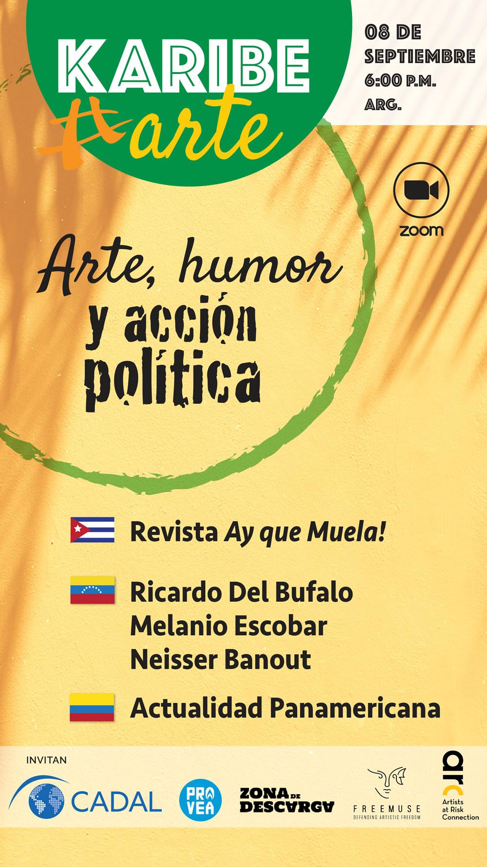 KaribeArte 2021, tercer encuentro: Arte, humor y acción política