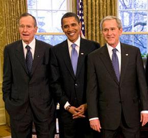 Obama entre Bush y Bush