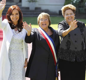 Bachelet y Rousseff se hunden donde CFK flota, �Triunfo del cinismo?