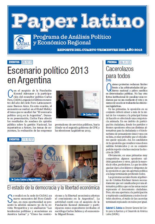 Paper Latino 4to trimestre 2012