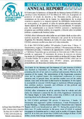 Reporte Anual 2003